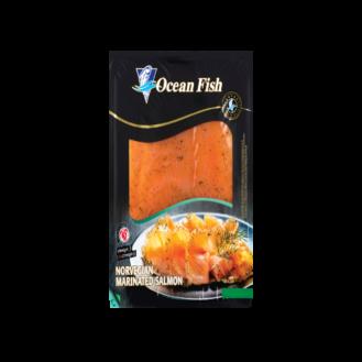 Salmon i marinuar në rriska